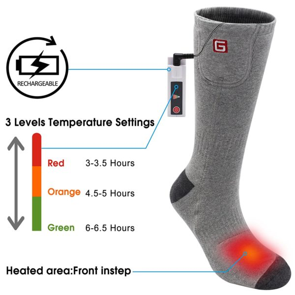Global Vasion Rechargeable Battery Heated Socks - 02