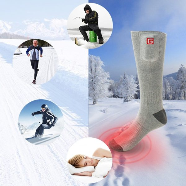 Global Vasion Rechargeable Battery Heated Socks - 09