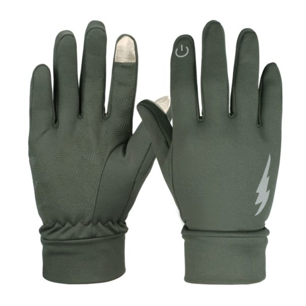 HiCool Winter Thermal Gloves - 08 - army green color