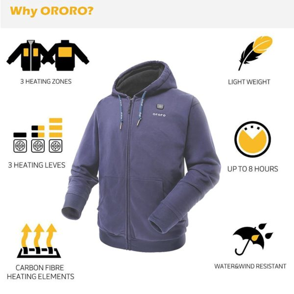 Ororo Electric Heated Hoodie - 03