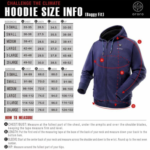 Ororo Electric Heated Hoodie - 07