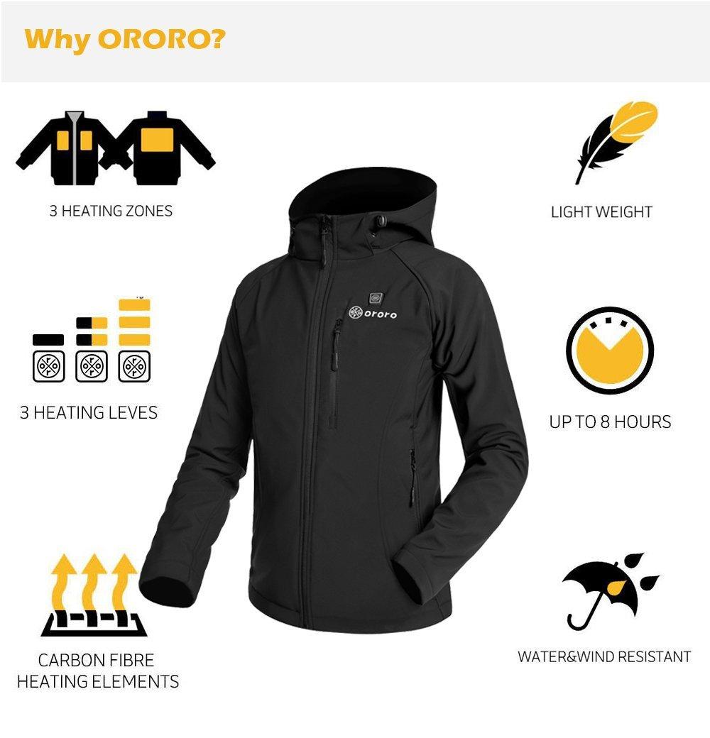 Womens Heated Clothing >> Ororo Women S Heated Jacket