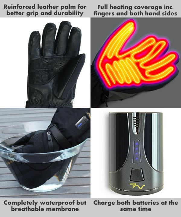 Heated Clothing Electric Clothing Heated Socks Heated Gloves >> Volt Tatra Rechargeable Heated Gloves