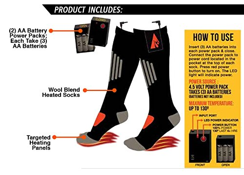 ActionHeat AA Battery Heated Socks - 04