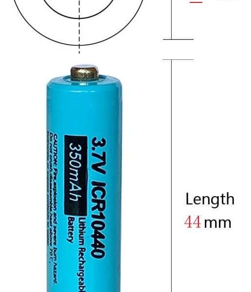 PKCELL 3.7V rechargeable battery dimensions