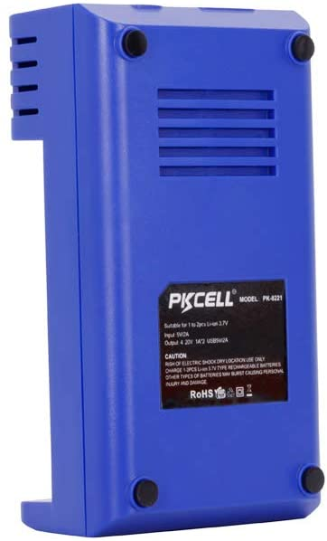 PLCELL 3.7v battery USB charger - blue