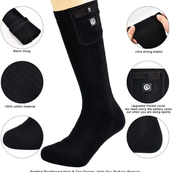 SNOW DEER Heated Electric Socks - Materials