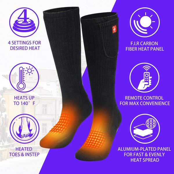 Sticro Rechargeable Electric Socks with Remote Control - 02