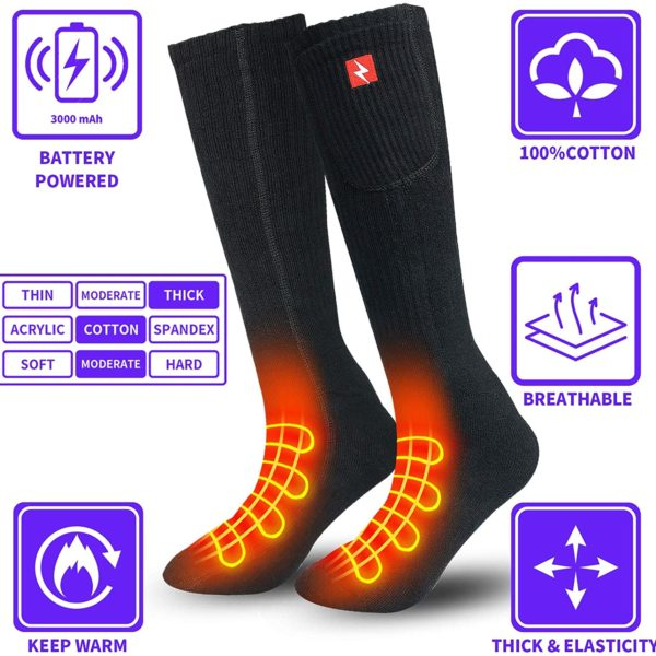 Sticro Rechargeable Electric Socks with Remote Control - 05